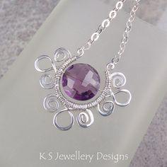 Princess Zara - Purple Amethyst Spiral Loop Horseshoe Fram…   Flickr