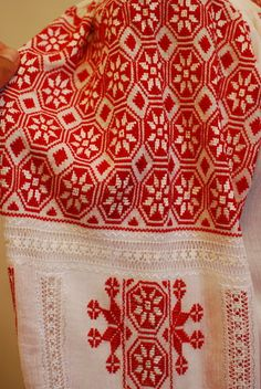 Romanian embroidery, Hand embroidered blouse from Muntenia region of Romani, http://www.costumes.ro/Romanian_Blouse_660red.htm#