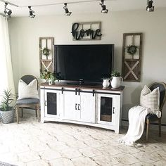 If you are looking for Farmhouse Living Room Tv Stand Design Ideas, You come to the right place. Below are the Farmhouse Living Room Tv Stand D. Living Room Tv, Living Room Remodel, Apartment Living, Living Room Ideas Tv Stand, Living Room Decor Around Tv, Bedroom Apartment, Apartment Ideas, Living Spaces, Design Stand