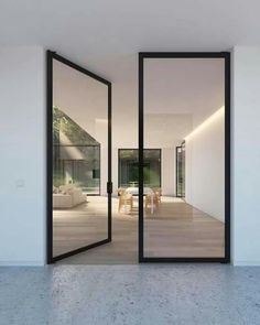 The Use Of Glass Doors Modern Style Inspirations Httpswww - Porte pivot