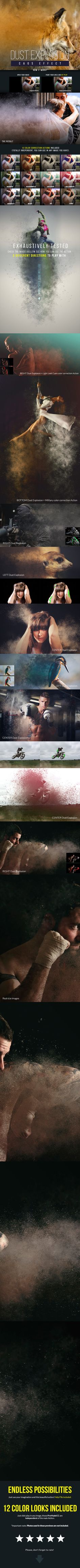 Dust Explosion Caos Effect - Photo Effects Actions