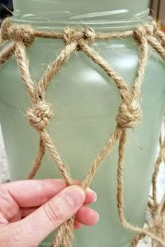 diy sea glass rope lantern perfect for your beach coastal decor awonderfultho delivers online tools that help you to stay in control of your personal information and protect your online privacy. Rope Crafts, Seashell Crafts, Beach Crafts, Summer Crafts, Crafts For Teens To Make, Crafts To Sell, Diy And Crafts, Sell Diy, Deco Marine