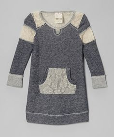 how cute is this lace sweatshirt dress?