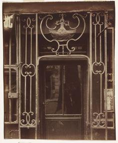 Exhibition: 'Impressions of Paris: Lautrec, Degas, Daumier, Atget' at the Monash Gallery of Art, Melbourne. http://artblart.com/2015/09/12/exhibition-impressions-of-paris-and-impressions-of-melbourne-at-mga-melbourne/ Photo: Eugène Atget (France 1857-1927) 'A la Grâce de Dieu, 121 rue Montmartre' c. 1900