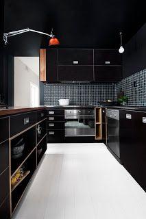 Black kitchen ohhh my gwad this is my kitchen