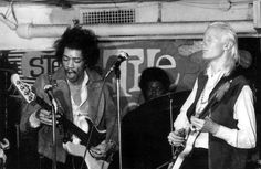 Jimi Hendrix on bass, Johnny Winter on guitar, and Buddy Miles on drums Feb. of '69 at The Scene.