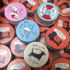 Our lovely new range of lip balms are available in our St Ives shop @poppyteffrey #bedachshing