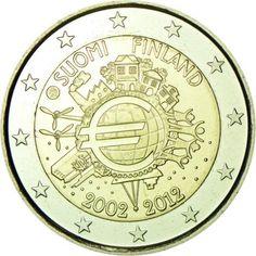2 Euro CuNi 10 Jahre Euro Bargeld UN