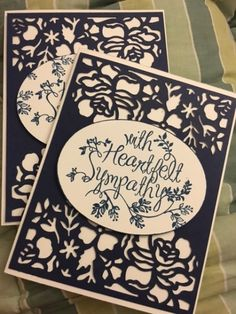 Heartfelt Sympathy with Detailed Floral Thinlets