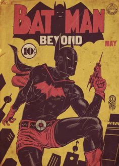 """The most recent """"The Line is Drawn"""" challenge from CBR reimagined several modern day superheroes in the Golden Age comic book era. My favorite piece is the reimagining of Batman Beyond created by Daniel Dahl."""
