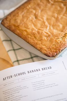 Magnolia Table After-School Banana Bread - Welcome to Our Blessed House I finally got my hands on the Magnolia Table cookbook by Joanna Gaines! I'm so excited to try some of the recipes, everything looks simple… Magnolia Kitchen, Magnolia Table, Magnolia Farms, Magnolia Homes, Bakery Recipes, Cookbook Recipes, Cooking Recipes, Cooking Ideas, E Claire