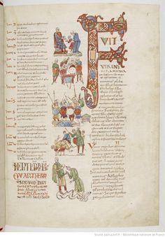 Http://gallica.bnf.fr/ark:/12148/btv1b8538801s/f13.item. Kläder, 900-tal, 1000-tal.