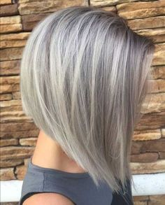 Look downright gorgeous in a flattering ash blonde hair hue. Glance through the chic ash blonde hair color shades roundup to add that extra zing to your look. Inverted Bob Hairstyles, Hairstyles Haircuts, Cool Hairstyles, Layered Hairstyles, Hairstyle Ideas, Pixie Haircuts, Grey Haircuts, Stacked Haircuts, Hair Ideas