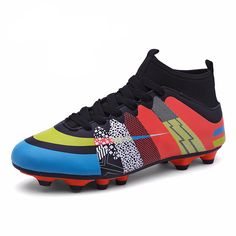 5aea4b86e1ef High Ankle Soccer Cleats Superfly Indoor Football Shoes