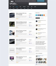 This premium wordpress theme is one of the best review wordpress themes that are ever made. You should take a look and see how nice design it is.