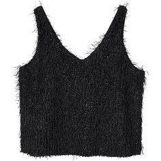da851d111ac66f Fringed Top (125 HRK) ❤ liked on Polyvore featuring tops