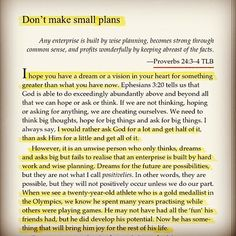Don't make small plans