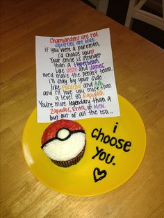 I choose you pokemon cupcake