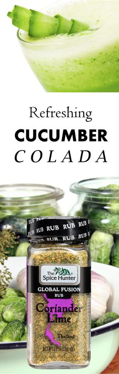 Our Global Fusion Rubs aren't just great on meat and vegetables, they make wonderful cocktails too! Don't believe us? Try our cucumber colada recipe here https://www.spicehunter.com/recipes/cucumber-colada/