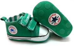 Baby Boy Converse Shoesnew Converse Soft Sole Baby Girl Boy Strap Red Or Green Crib Shoes A Orvai