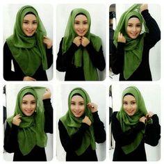 Cara Mudah Memakai Hijab Pashmina Formal