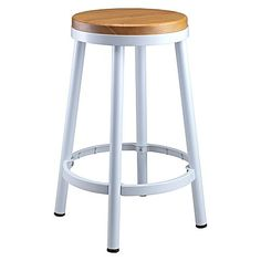 Update your dining space with the contemporary design of the powder coated Dani Bar Stool, Ash/White from Life Interiors.