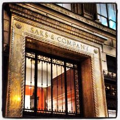 """Saks Fifth Avenue  My """"mothership"""" gave me a credit card when I was 17!"""