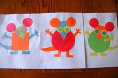 Read Mouse Shapes and then give children shapes to make their own mouse and other critters.