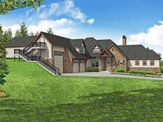 051H-0327: Luxury House Plan with RV Garage Duplex House Plans, Luxury House Plans, Family House Plans, Best House Plans, Basement Plans, Basement Flooring, Pantry Interior, European Style Homes, Floor Framing