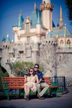 Disneyland Engagement Photoshoot, Castle #Disney #Engaged @finkphotography