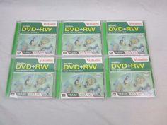 DVD+RW Lot Of 6 Verbatim Rewritable 4.7 GB 120 Min. Movie, Video, Images, Data  #Verbatim