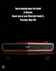 Chevrolet Camaro Ad 1967