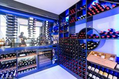The home will be a haven for wine-lovers, featuring a spacious wine room , although the bo. Wine Tasting Near Me, Wine Baskets, Wine Drinks, Detached House, Luxury Homes, Mansions, House Styles, Building, Room