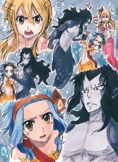 Fairy tail next gen. more gale mermaids, fanart from the fanfic dark waters. Fairy Tail Nalu, Gale Fairy Tail, Fairy Tale Anime, Fairy Tail Guild, Fairy Tail Ships, Fairy Tales, Couples Fairy Tail, Fairy Tail Family, Fan Art