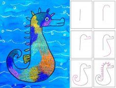 Seahorse Art Project for Kids | Ziggity Zoom for classroom or homeschool - great art idea