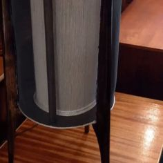#magnus #lighting #rocket #lamp in plywood, cord, screen, #teak legs. This would look awesome illuminating a plant display on the floor. #indiastreetantiques #danishmodernsandiego #littleitalysd #ilobsterit