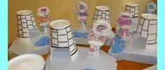 paper cup iglo and eskimo craft