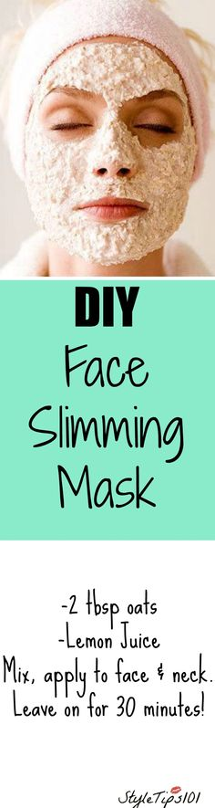 diy face slimming mask