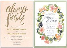 Best Watercolor Wedding Invitations Free