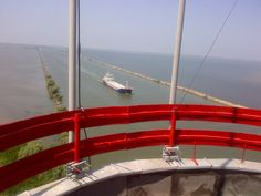 From the top of Sulina lighthouse you can see the romanian shore.