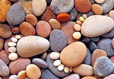 Pedras, pedrinhas, seixos, seixinhos, fios, linhas, galhinhos, cola...