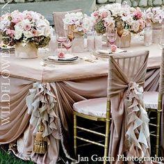 blush pink wedding theme by fruityjoylala