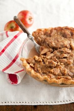 Apple Crunch Pie with Red Wine Caramel #pauladeen