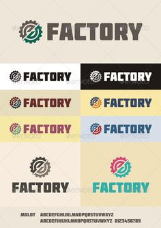 Factory - Logo Design Template Vector #logotype Download it here: http://graphicriver.net/item/factory-logo/2434840?s_rank=248?ref=nexion