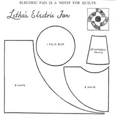 pattern for Letha's Electric Fan appeared in the Kansas City Star in 1938,
