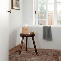 Smooth Legs, Amber Interiors, Extra Seating, Walnut Wood, Hand Towels, Natural Wood, Bamboo, Stool, Furniture