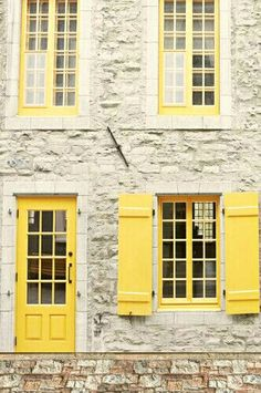 yellow shutters | a little drop of sunshine