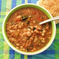 Slow and Hearty Soup - slow cooker soup for pork pieces