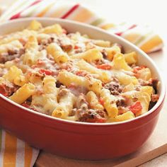 Baked Ziti with Fresh Tomatoes  Just leave the meat out for a veggie version