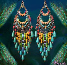 Hey, I found this really awesome Etsy listing at https://www.etsy.com/listing/217955405/long-colorful-beaded-turquoise-gemstone